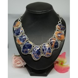 Collier Sodalite Africaine